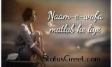Naam - E - Wafa Hindi Whatsapp Video Status